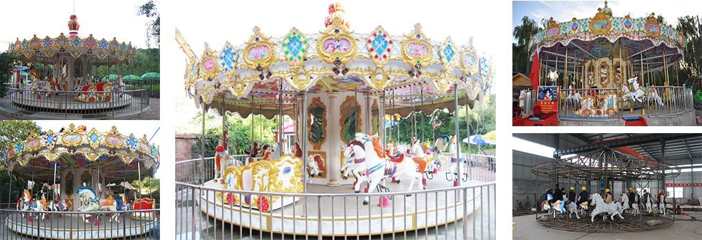 amusement rides 24 seats carousel supplier in China