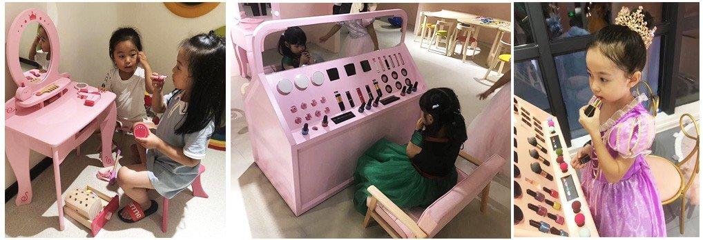 kids makeup table